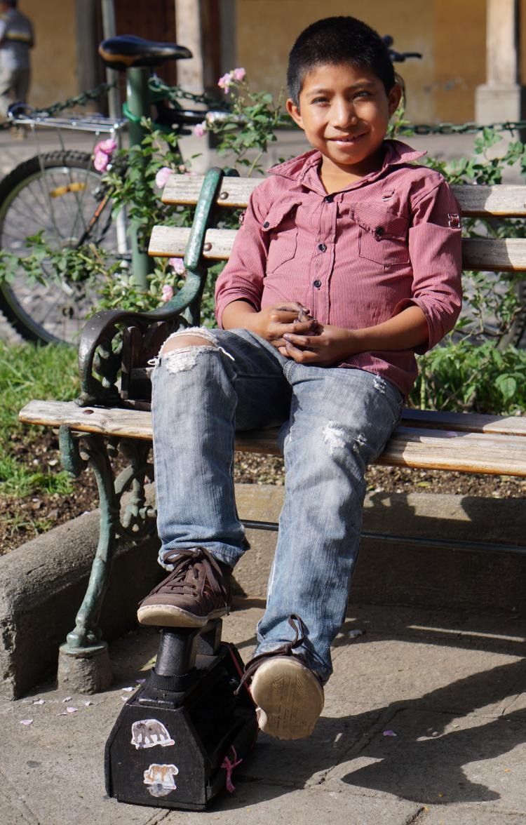 Mario, a ten year old shoe shiner in Antigua, Guatemala.